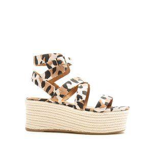 Leopard Platform Espadrille Wedge Sandals